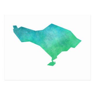 Bali Map Postcard