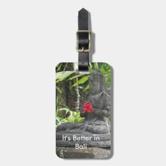 Bali Meditation Statue Bag Tag