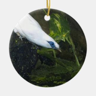 Bali Myna Double-Sided Ceramic Round Christmas Ornament