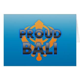 Bali orgulloso orgullo de Bali Tarjeton