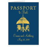 Bali Passport Wedding Invitation Greeting Cards