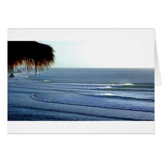 Bali que practica surf tarjetón