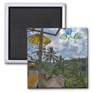 Bali Rice Fields 2 Inch Square Magnet