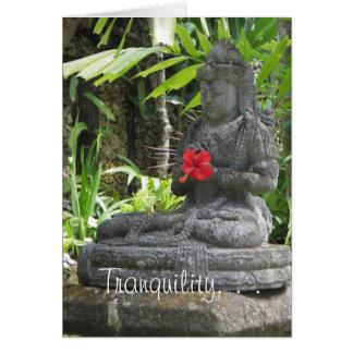 Bali Statue Birthday Card