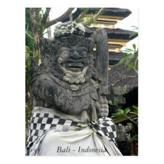 Bali Statue Indonesia Postcard