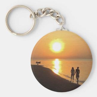 Bali sunrise on the beach keychain