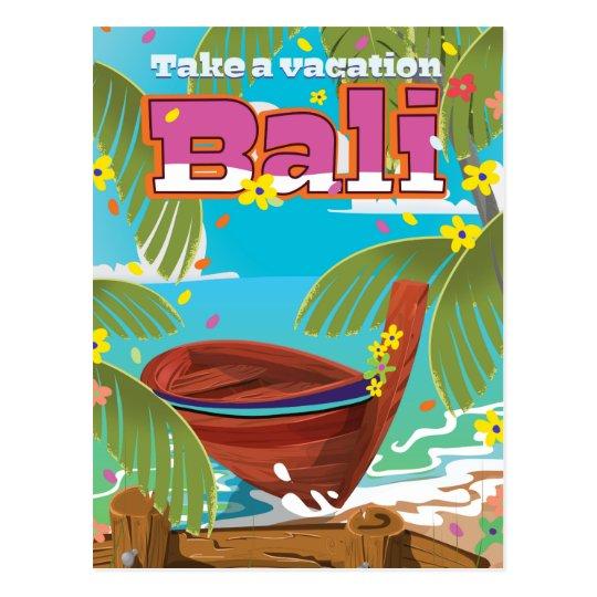 Bali Travel Poster Postcard Zazzle Com