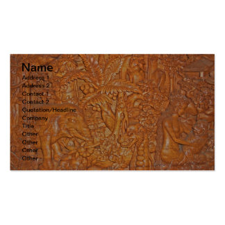 Bali Wood Carving One-of-a-Kind Art Double-Sided Standard Business Cards (Pack Of 100)