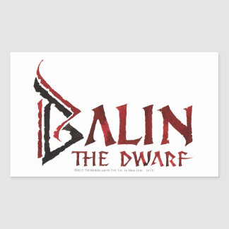 Balin Name Rectangular Sticker
