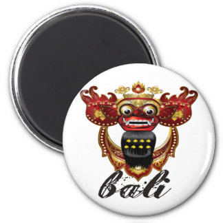 Balinese Barong Indonesia Souvenir 2 Inch Round Magnet