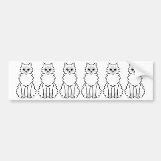 Balinese Cat Cartoon Car Bumper Sticker