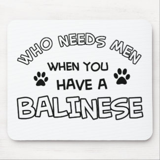 Balinese cat designs mouse pad