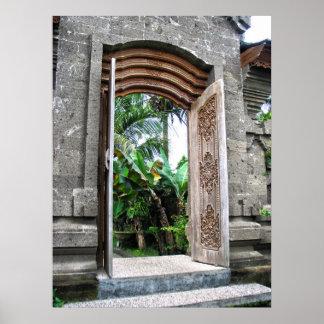 Balinese Door Poster