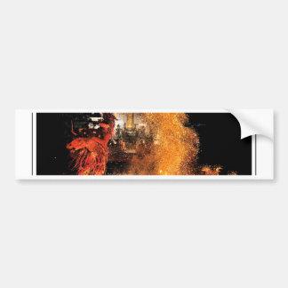 Balinese Fire Dancer Car Bumper Sticker