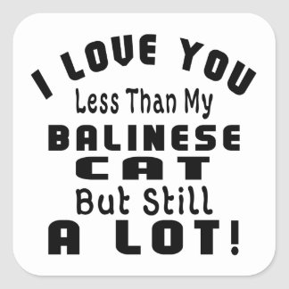 BALINESE FUNNY DESIGNS SQUARE STICKER