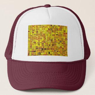 Balinese Glass Tile Art - Yellow Trucker Hat