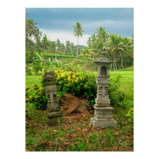Balinese Rice Field Shrines Poster