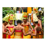 Balinese Temple Dedication Festival Post Card