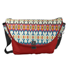 Balkan Folk Art Lozenge Pattern Large Messenger Courier Bag at Zazzle