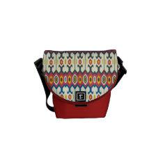 Balkan Folk Art Lozenge Pattern Mini Messenger Courier Bag at Zazzle