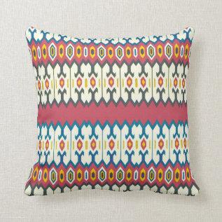 Balkan Folk Art Lozenge Pattern Pillow at Zazzle