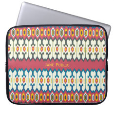 Balkan Folk Art Lozenge Pattern Sleeve 15 at Zazzle