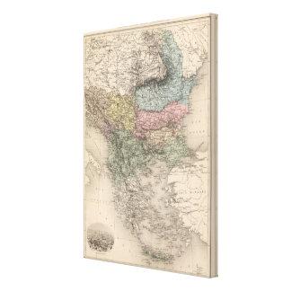 Balkan Peninsula 3 Canvas Print