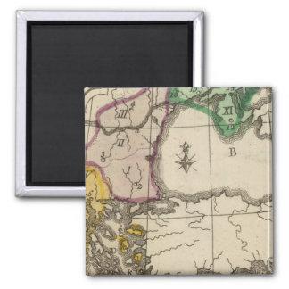 Balkan Peninsula 3 2 Inch Square Magnet