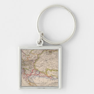 Balkan Peninsula, Austria, Hungary Keychain