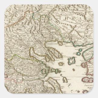 Balkan Peninsula, Greece, Macedonia Square Sticker
