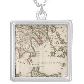 Balkan Peninsula, Greece, Turkey Silver Plated Necklace