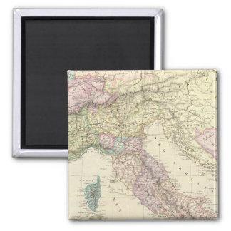 Balkan Peninsula, Italy, Slovenia 2 2 Inch Square Magnet