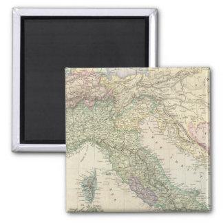 Balkan Peninsula, Italy, Slovenia 2 Inch Square Magnet