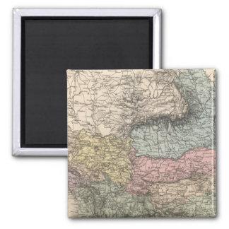 Balkan Peninsula 2 Inch Square Magnet