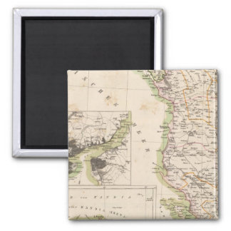 Balkan Peninsula, Turkey, Albania 2 Inch Square Magnet
