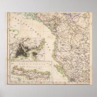 Balkan Peninsula, Turkey, Albania Poster