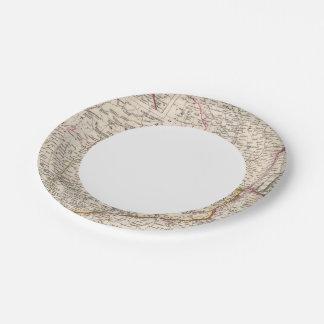 Balkan Peninsula, Turkey, Romania Paper Plate