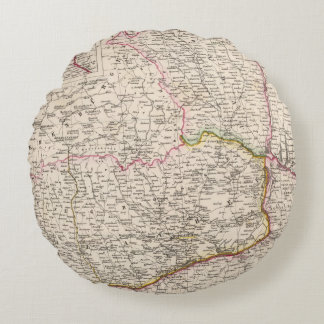 Balkan Peninsula, Turkey, Romania Round Pillow