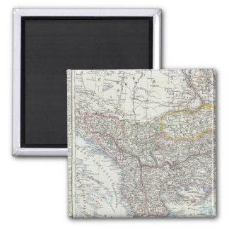 Balkan Peninsula, Turkey, Serbia, Europe 2 Inch Square Magnet