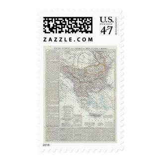 Balkan Peninsula, Turkey, Serbia, Europe Stamp