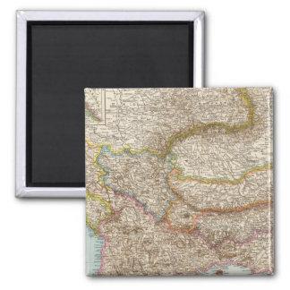 Balkanhalbinsel - Balkan Peninsula Map 2 Inch Square Magnet
