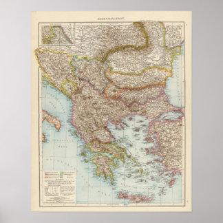 Balkanhalbinsel - Balkan Peninsula Map Poster