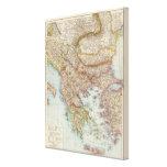 Balkanhalbinsel - mapa de la península balcánica impresión en lona