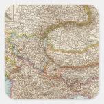 Balkanhalbinsel - mapa de la península balcánica pegatina cuadrada