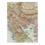 Balkanhalbinsel - mapa de la península balcánica postal