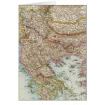 Balkanhalbinsel - mapa de la península balcánica tarjeta de felicitación
