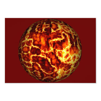 ball-373718 HOT RED FIRE PLANET  ball fire electri 5x7 Paper Invitation Card