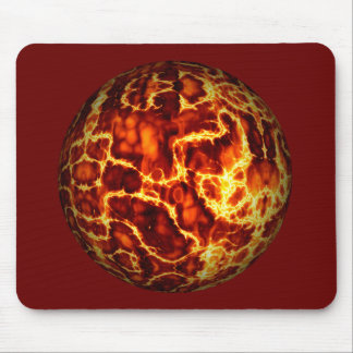 ball-373718 HOT RED FIRE PLANET  ball fire electri Mouse Pad