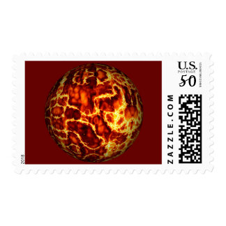 ball-373718 HOT RED FIRE PLANET  ball fire electri Postage