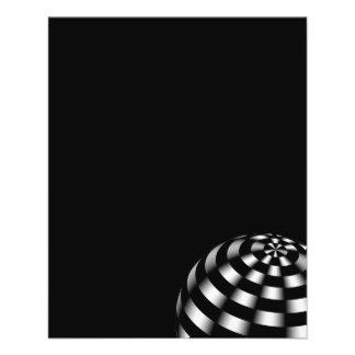 ball-440140 BLACK HITE STRIPES OPTICAL ILLUSIONS b Flyer